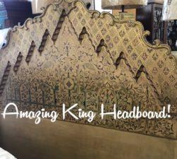 carved king headboard