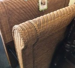 Rattan Pottery Barn Twin Bed!