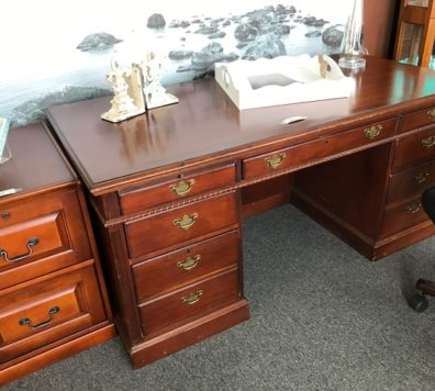 Executive Desk and file cabinet