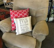 Large Ultra Suede recliner
