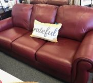 Red Leather Lane sofa! Just in!