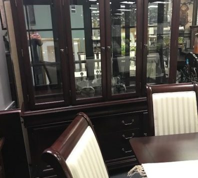 Espresso china cabinet - like new!