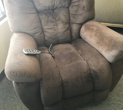Brown electric recliner!