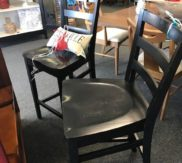 Black bar stools - 2
