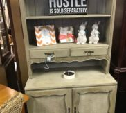 Distressed painted hutch