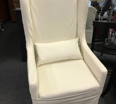 New slip covered wing chair!