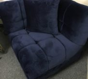 blue corner chair!
