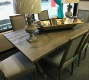 Grey washed 72 in farm table