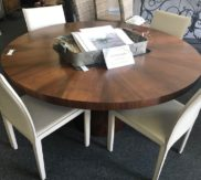 Crate and Barrel round dining table with 4 chairs!