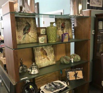 Walnut glass and wood shelf - Amazing piece!