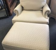 French Country chair and ottoman - like new!