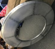 Industrial metal round mirror!