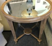 mirrored round side table!
