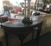 Half round chunky entry table! Like new!