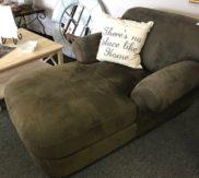 Green Grey lounge chair! Like new!