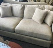 2 cushion Large oatmeal colored sofa - just in