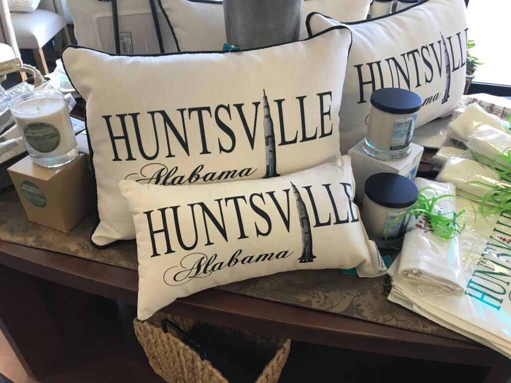 HSV pillows, candles and towels